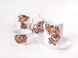 Henna Tea Set by cydienne