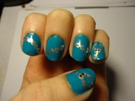 Alaude Inspired Nail Art--Left by pockyXbandit