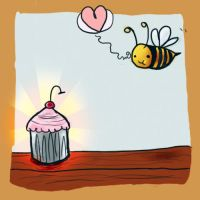 Bee Loves Cupcake. by nancy0