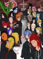 Akatsuki Vs. Organization XIII by Heartless-Bowser