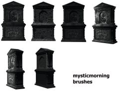 Gravestone Brushes by mysticmorning