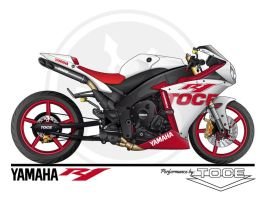 YAMAHA R1 performance by TOCE by sergiotoribio