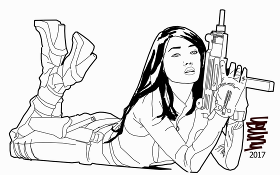 Bad girl gun draw by humanologue