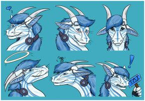 Hasia Brothers Sticker pack - Ice by Bluehasia
