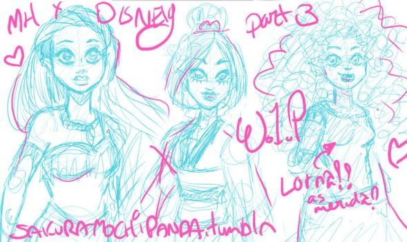 MH: WIP Disney Princess Revisited 3 by I-heart-Link