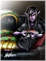 Commission - Valerie Gaming by MaximumImpulse