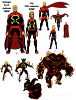 Alpha and Omega: Archangel and Fury Redesigns by Abt-Nihil