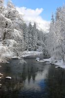 Merced River Snow, Yosemite by James-Bong