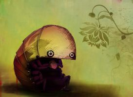 Pill Bug with a Sammich by GretchenBangs