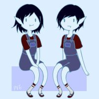 Marcy and Marsh by PvElephant