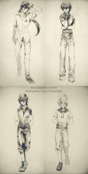 Pencil Characters by Saiko--Rohime