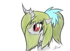 Changeling OC 02 by Xeirla