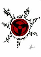 Sharingan AND Naruto's seal no2 by poisonappleltd