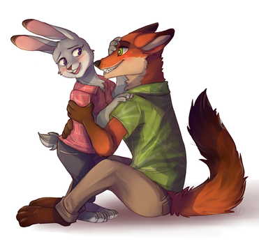 Zootopia ( Judy and Nikc) by 1AN1