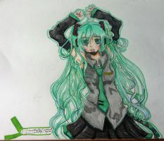 Hatsune Miku by FlantasticRiceball