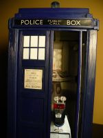 Classic Tardis and K-9 by DoctorWhoNC