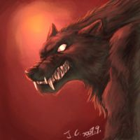Angry werewolf by J-C