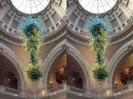 Chihuli Glass Under A Victoria And Albert Dome by aegiandyad