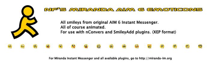 Miranda AIM 6 Emoticons by NeoFighter