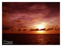 camiguin red sunset by mildmind2006