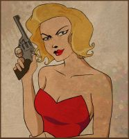 Cluedo Series - Miss Scarlett by crash-bang-wallop