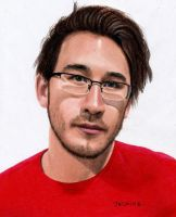 Markiplier Colored Pencil Drawing by JasminaSusak