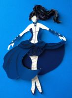 starlingthefairy's 'TARDIS Dress Concept' in Paper by Eotena