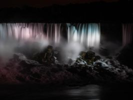American Falls By Night by sandrability