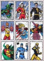 DC Heroes Sketch Cards by tonyperna