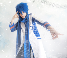 Kaito in the stream of music by Akitozz6