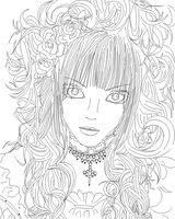 hizaki lineart mspaint by kanogt