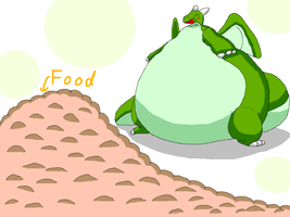 Mountain of food by ensiryu