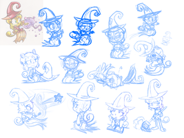 BroomWitch Sketches by SuperCleaveLand64