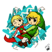 Link and Aryll by To0nLink