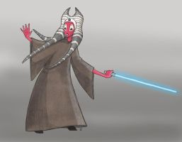 Shaak Ti - Clone Wars Style by sketchtastrophe