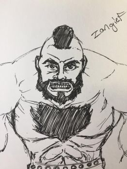 Fast sketch- zangief by ansem-the-dead