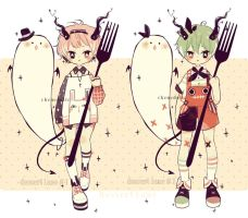 Adoptable: Dessert lane species #1-2 (closed) by Chenedelic