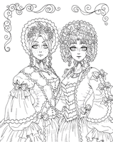 Victorian Ladies by Michelangeline