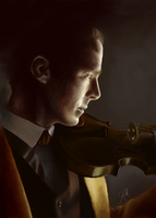 Sherlock special promo picture - Violin by Annocent