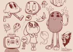 The amazing world of gumball doodles by LonePlanemo