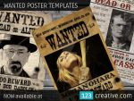 Wanted poster templates by 123creative