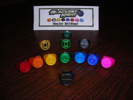 green lantern ring collection by ajb3art