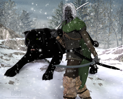 Drizzt Do'Urden :: RAS Style by DrowElfMorwen