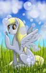 Derpy and Her Bubbles by ChibiWorks