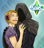PewDiePie And Death Senpai by xXira-eshvoXx