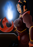 Azula 8 yrs later in color by Bfetish