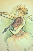 Violin Girl by me :) by justbemike
