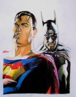 Superman and Batman Tribute by Nathanm4