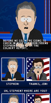 Daily/Colbert - The Toss by AnonPaul