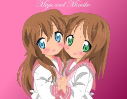 Mimiko and Miyu by Amu---Chii